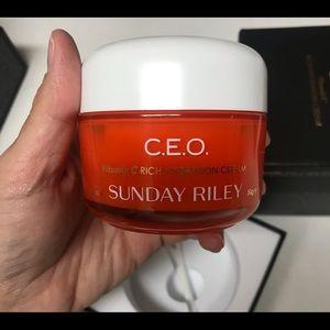 Sunday Riley CEO vitamin C rich hydration cream